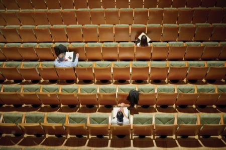near empty lecture hall