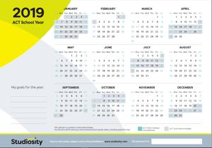 ACT 2019 Calendar school year