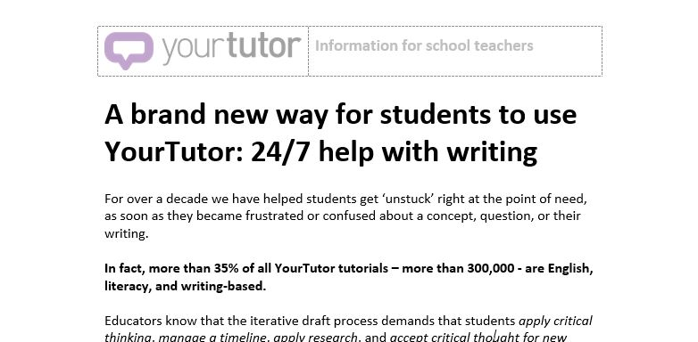 FAQ sheet for teaching staff about 247 Writing Feedback