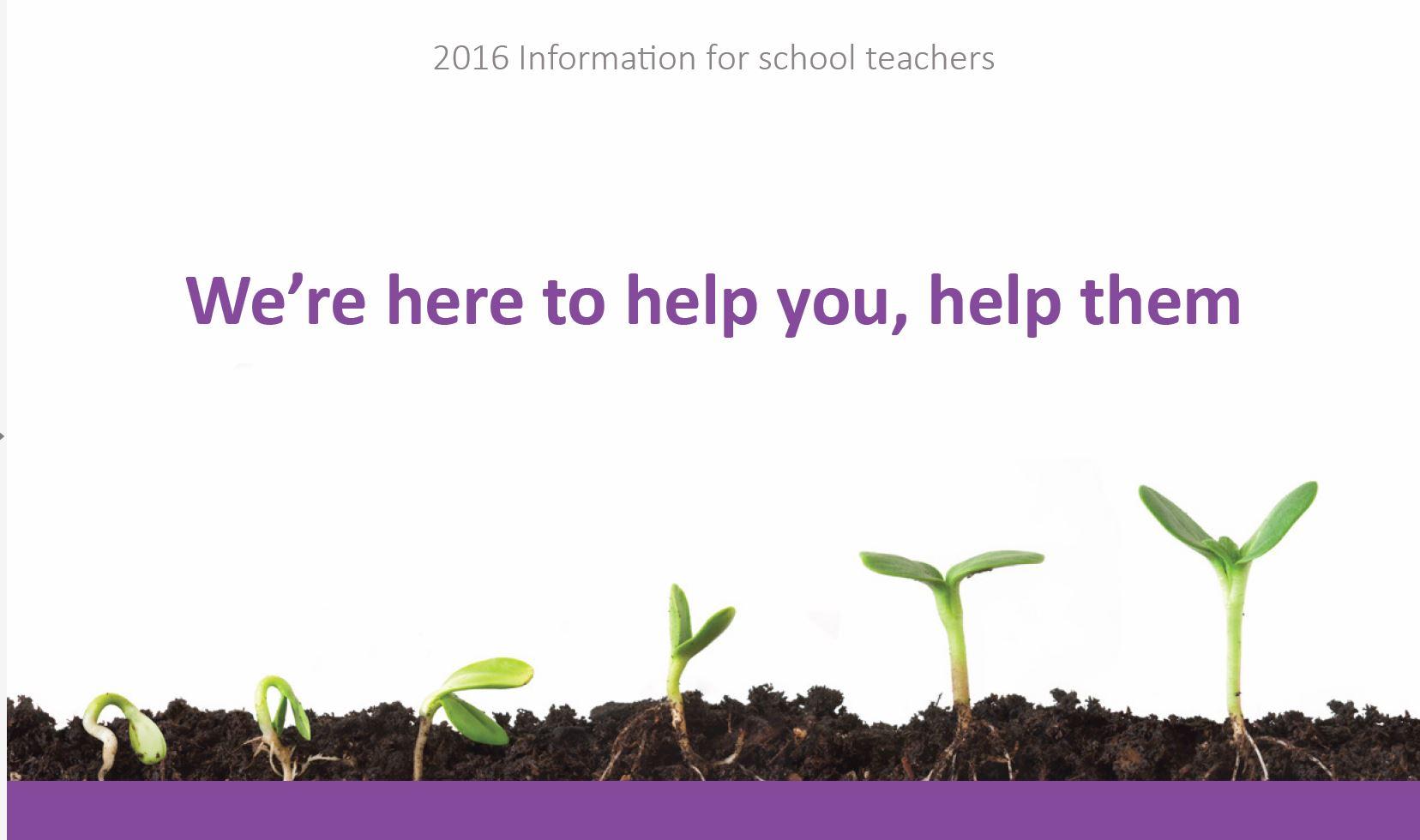 Information sheet for teachers about YourTutor