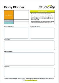 Studiosity-Essay-planner