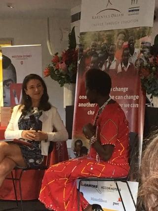 Eleanor Hall and Dr Kakenya Ntaiya at WSU