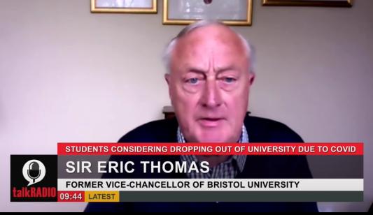 Sir Eric on talkRADIO 1