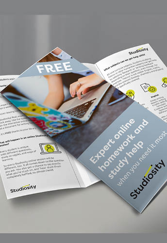Download Studiosity printable trifold brochure