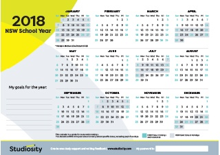 School Terms And Public Holiday Dates For Nsw In 2018 Studiosity