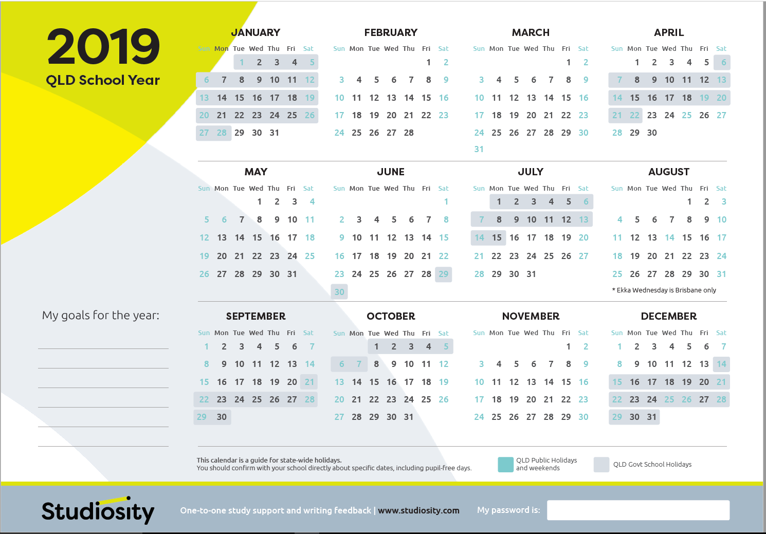 2019 Calendar Qld School School terms and public holiday dates for QLD in 2019 | Studiosity