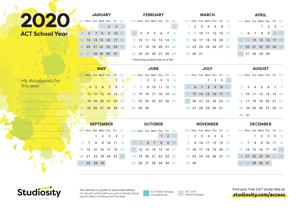 ACT 2020 Calendar thumbnail