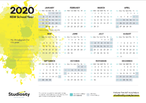 NSW 2020 school term Calendar