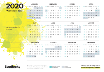 WA 2020 Calendar thumbnail