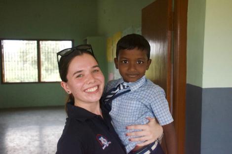 High school experience volunteering in India