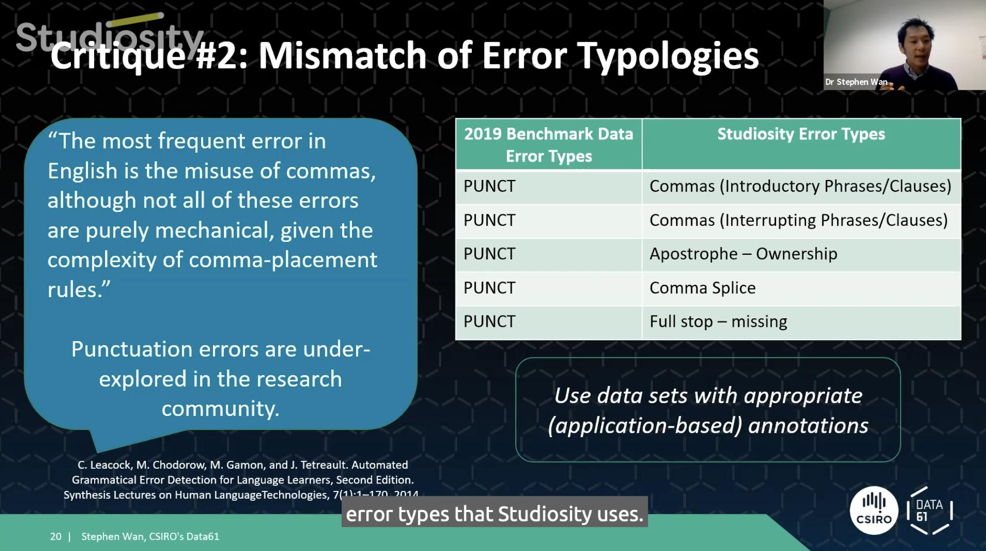 Dr Stephen Wan Studiosity Symposium Error Types
