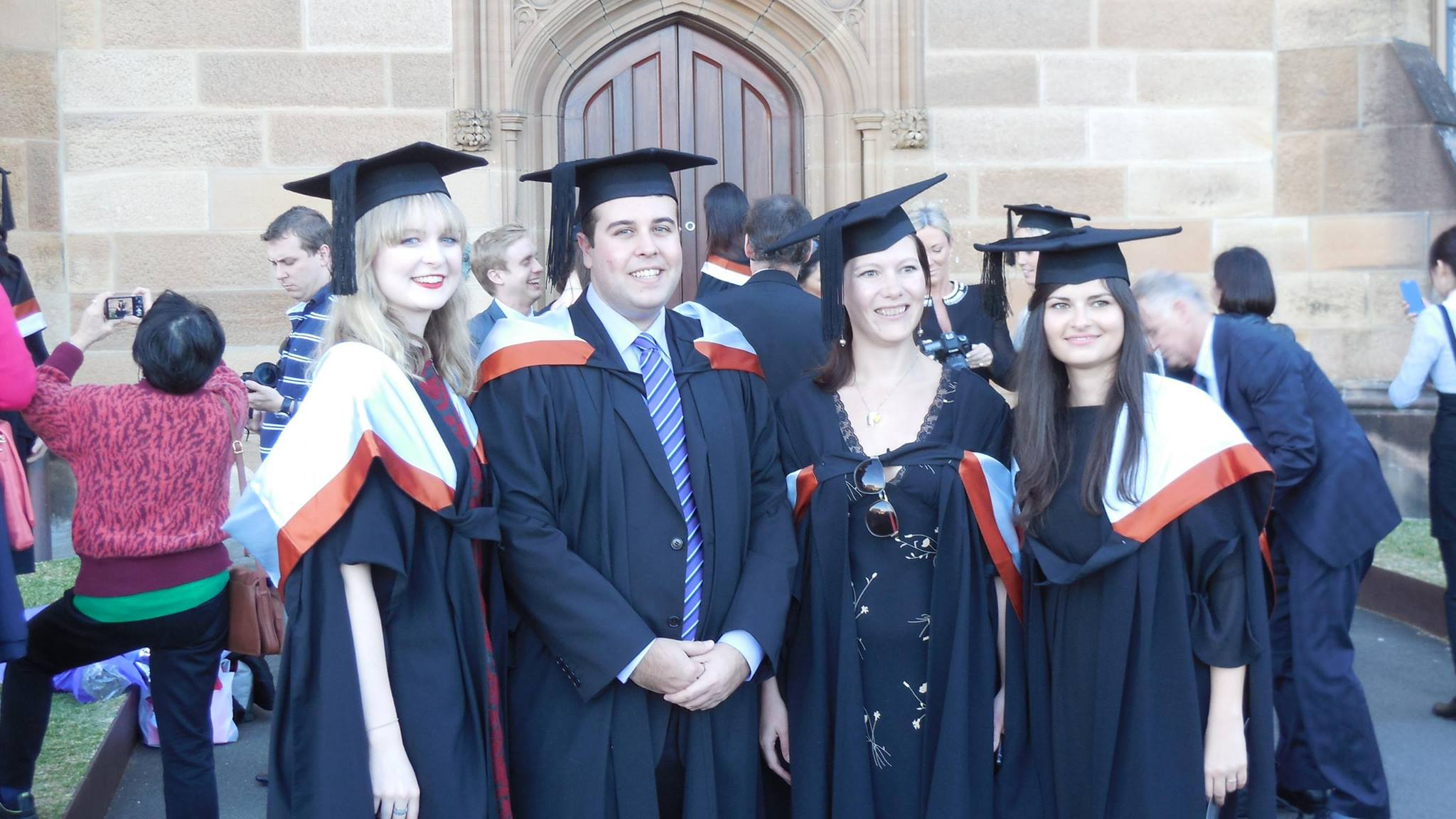 Mona Pradella and friends graduating from the University of Sydney