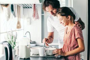 Dad-daughter-kitchen