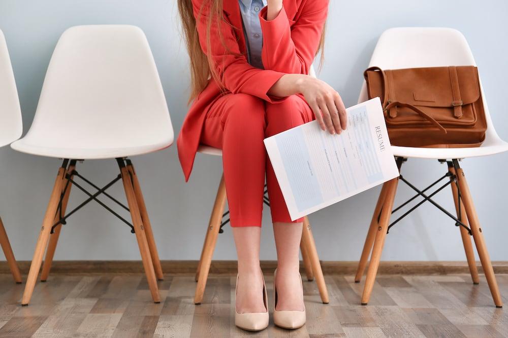 Girl holding her resume