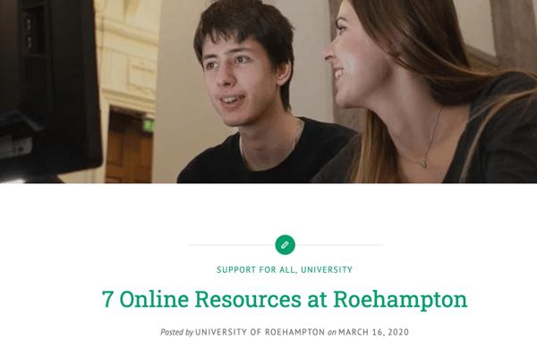 University-of-Roehampton-student-content-best-practice