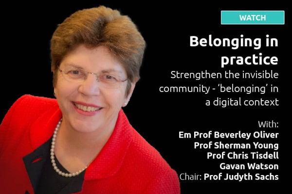 Belonging in practice Studiosity Symposium session - WATCH