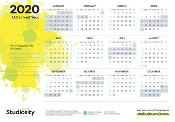 TAS 2020 Calendar thumbnail