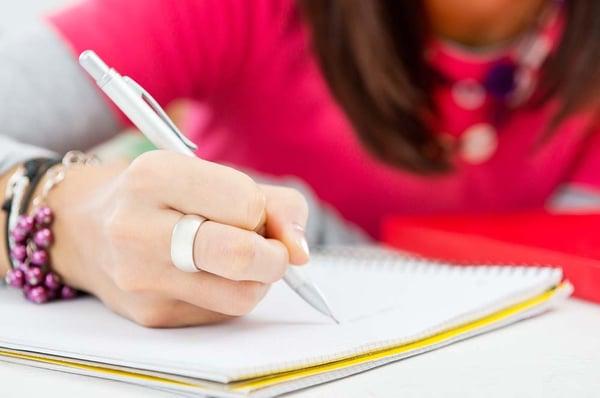 Girl_hand_writing
