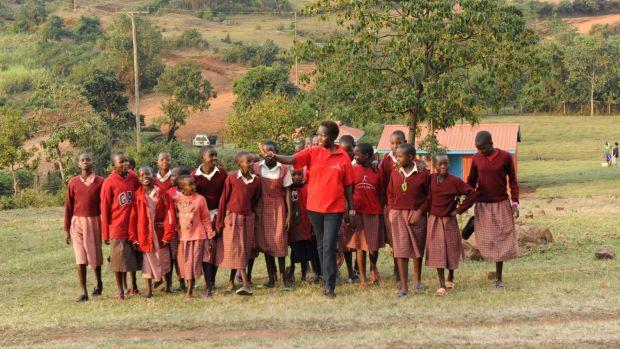 Kakenya and her students