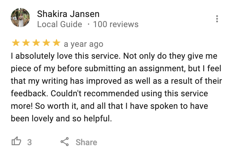 Google-Review-Studiosity-Shakira