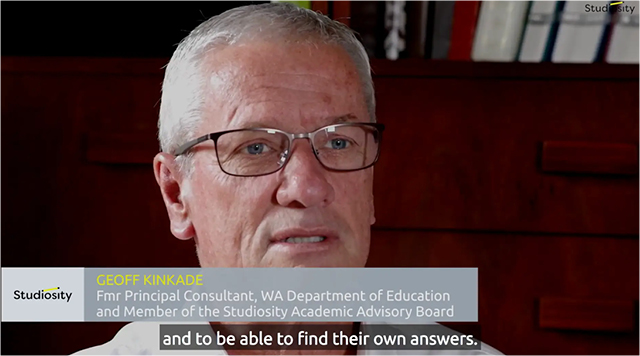 Geoff Kinkade WA Dept Edu, on 'help not answers'